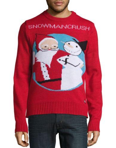 AMERICAN STITCH Snowman Crush Ugly Christmas Sweater