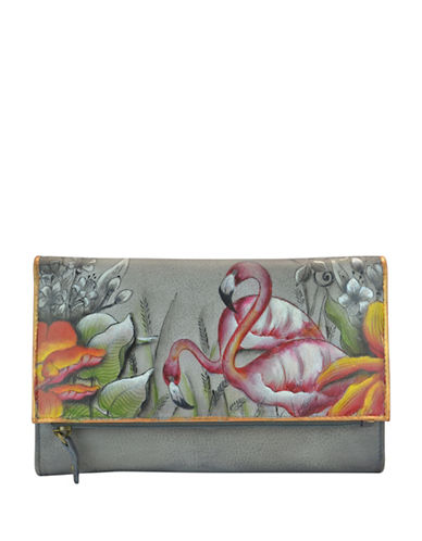 Anuschka Tri-Fold Leather Wallet-MULTI-One Size