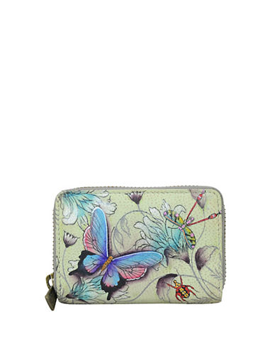 Floral leather zip credit and business card holder hudsons bay reheart Gallery