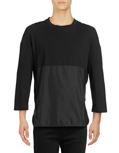 Mostly Heard Rarely Seen Geometric Back Pocket Ex Sleeve Tee-BLACK-Medium