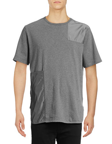 Mostly Heard Rarely Seen Patch Tee-GREY-Small