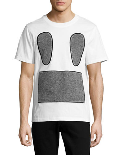 Mostly Heard Rarely Seen Carpet Face T-Shirt-WHITE-Large