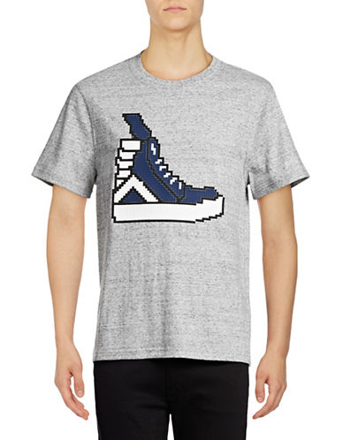 Mostly Heard Rarely Seen Hi-Top Sneaker T-Shirt-GREY-Medium