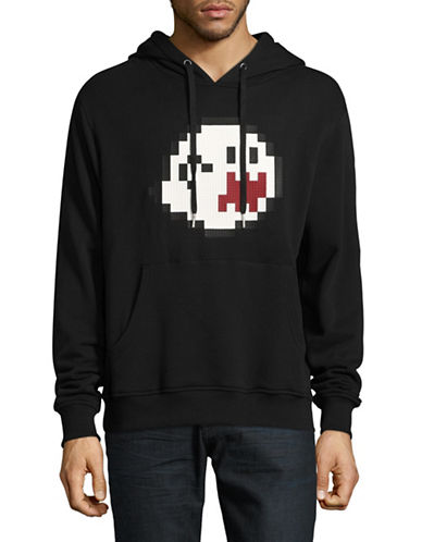 Mostly Heard Rarely Seen Haunting You Lego Cotton Hoodie-BLACK-Small