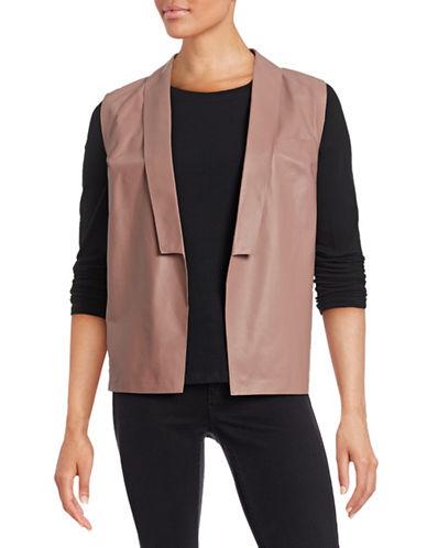 Eleventy Leather Vest-PINK-EUR 44/US 8
