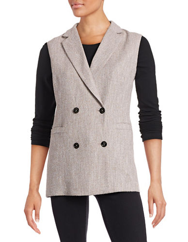 Eleventy Four-Button Long Vest-BEIGE-EUR 42/US 6