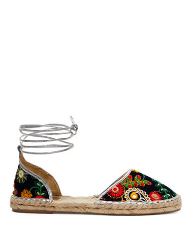 Frances Valentine Jane Flat Ankle Warp Espadrilles-MULTI-8