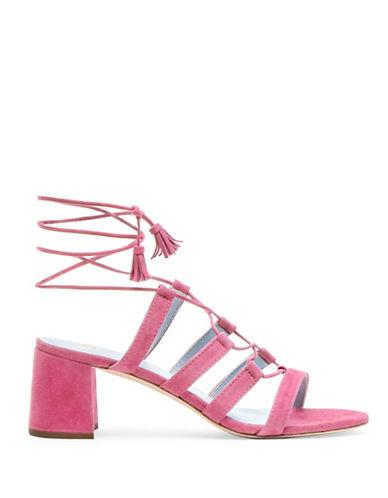 Frances Valentine Jade Suede Sandals-PINK-8