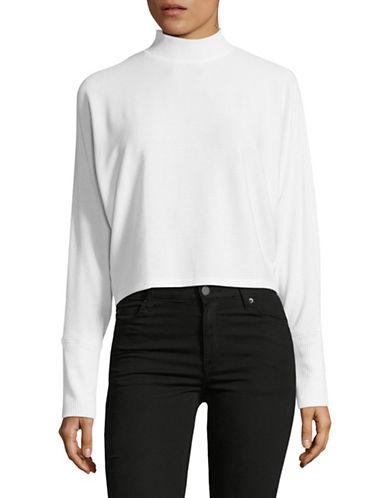 Design Lab Lord & Taylor Liza Dolman Knit Top-WHITE-Large