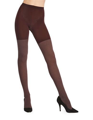 Assets Red Hot Label By Spanx Herringbone Tights-BROWN-1