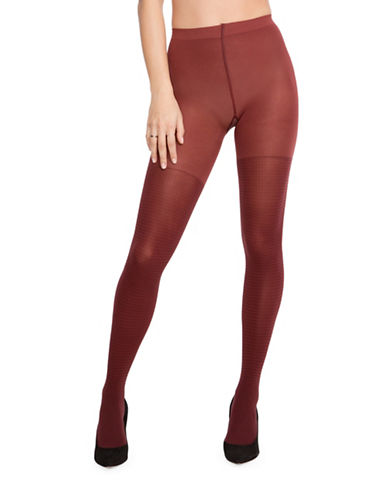 Spanx Fancy Gingham Tights-BROWN-D