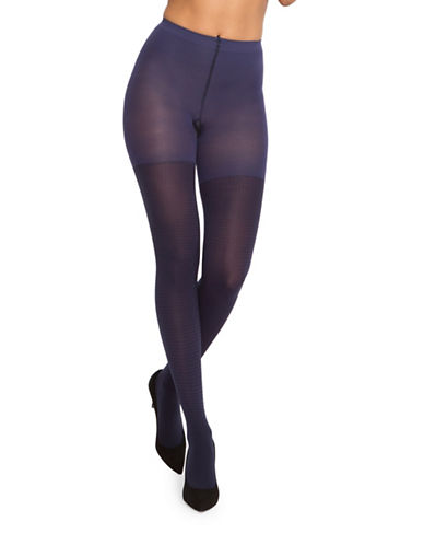 Spanx Fancy Gingham Tights-BLUE NIGHT-D