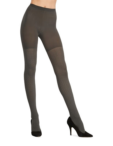 Assets Red Hot Label By Spanx Cable Knit Tights-GREY-2
