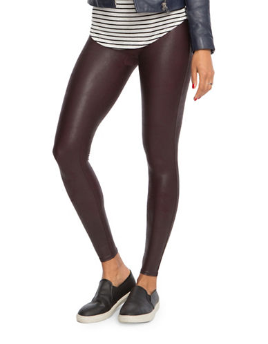 Spanx Faux Leather Leggings-RED-Medium 88518779_RED_Medium