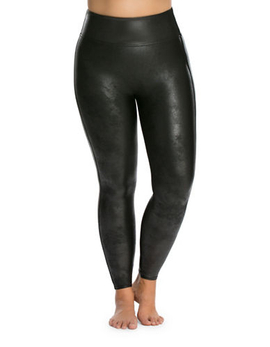 Spanx Plus Flawless Banded Leggings-BLACK-1X