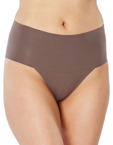 Spanx Undie-tectable Thong-BROWN-Small