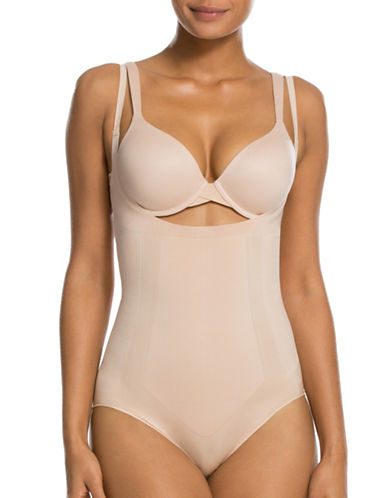 Spanx Oncore Open Bust Bodysuit-NUDE-X-Large