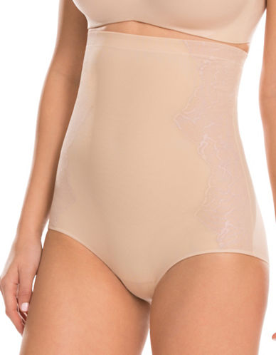 Assets Red Hot Label By Spanx Dramatic Lace High-Waist Briefs-NUDE-Medium