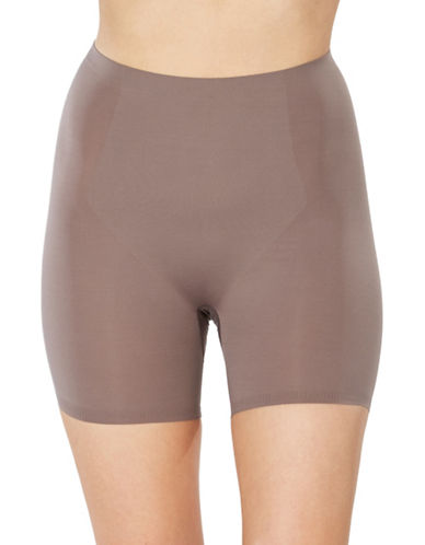 Spanx Thinstincts Targeted Shorts-BROWN-Large