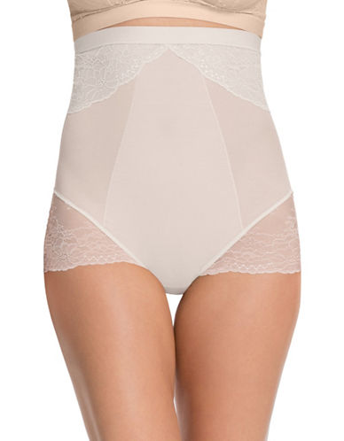 Spanx Spotlight On Lace High-Waist Briefs-WHITE-Medium