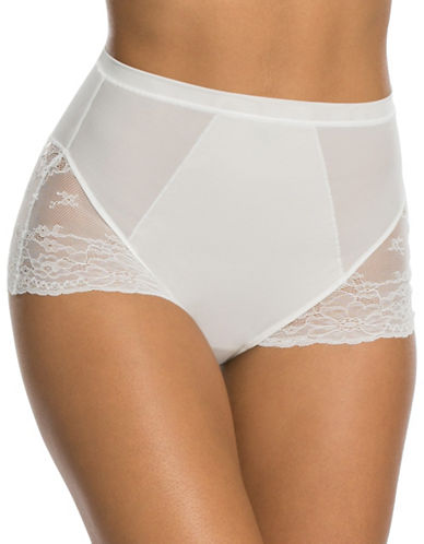 Spanx Spotlight On Lace Briefs-WHITE-Large