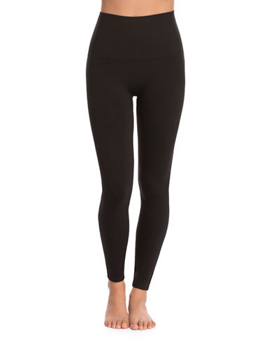 Spanx Plus Seamless Leggings-BLACK-3X