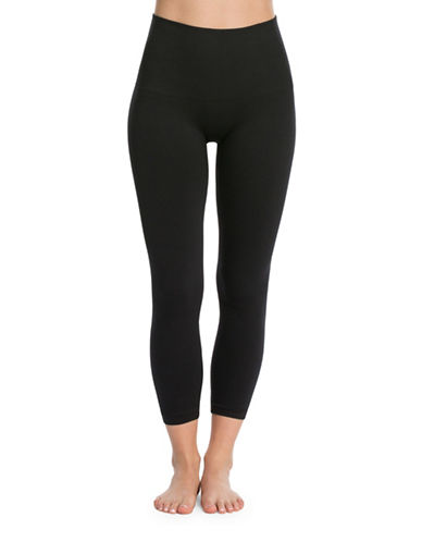 Spanx Cropped Look at Me Now Leggings-BLACK-Large 88889936_BLACK_Large