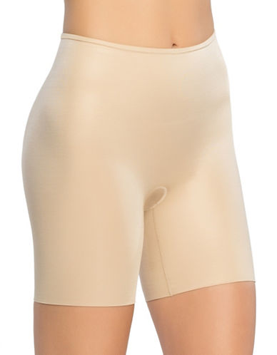 Spanx Power Conceal Mid-Thigh Shorts-BEIGE-X-Large