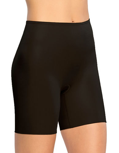 Spanx Power Conceal Mid-Thigh Shorts-BLACK-Large
