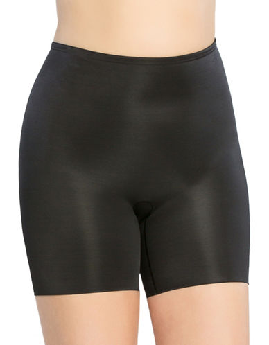 Spanx Plus Power Conceal Mid-Thigh Shorts-BLACK-2X