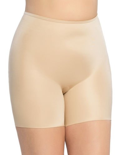 Spanx Plus Power Conceal Mid-Thigh Shorts-BEIGE-1X