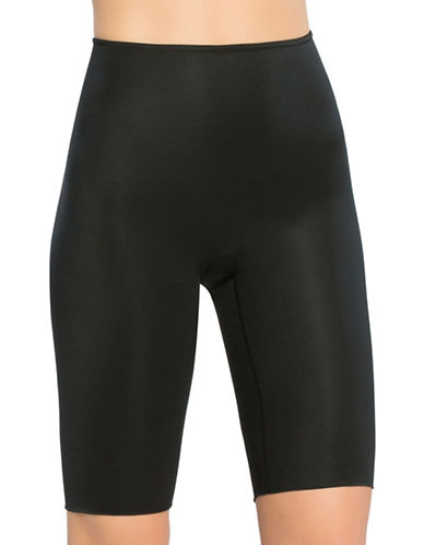 Spanx Power Conceal Extended Length Mid-Thigh Shorts-BLACK-X-Large