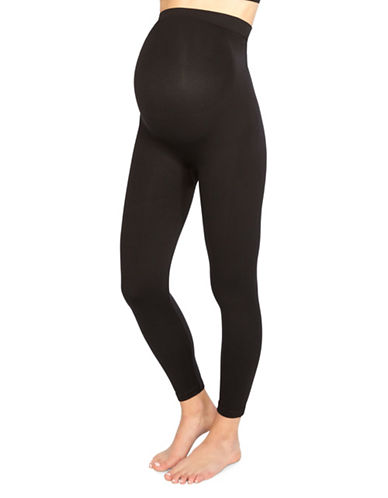 Spanx Maternity Blocked Leggings-BLACK-Large
