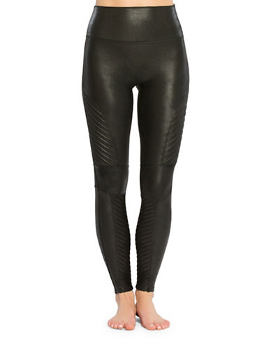 Spanx Moto Leggings-BLACK-Large 89290462_BLACK_Large