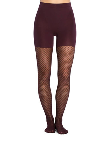 Spanx Honeycomb Fishnet Tights-PURPLE-Medium