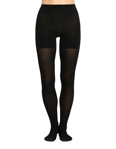 Spanx Diamond Dot Tights-BLACK-A/B