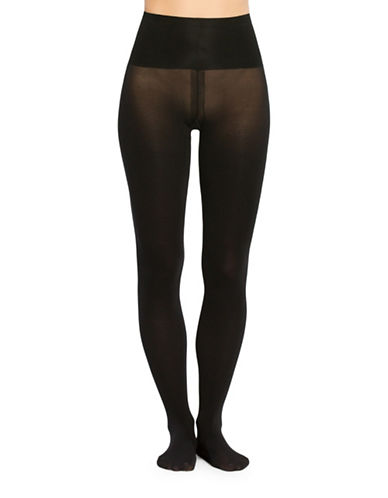 Spanx Tummy Shaping Tights-BLACK-B