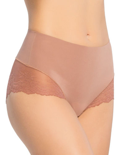 Spanx Lace Hi-Cut Hipster Briefs-PINK-Small