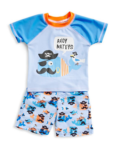 Solo Swim Ahoy Rashguard and Swim Shorts Set 89864214