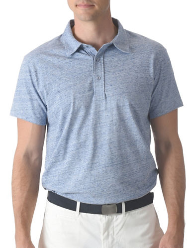 Grayers Slub Nep Jersey Cotton Polo-BLUE-Large