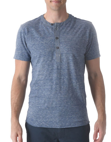 Grayers Todd Slub Short Sleeves Henley-BLUE-Large