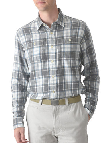 Grayers Webster Summer Twill Shirt-GREY-Large
