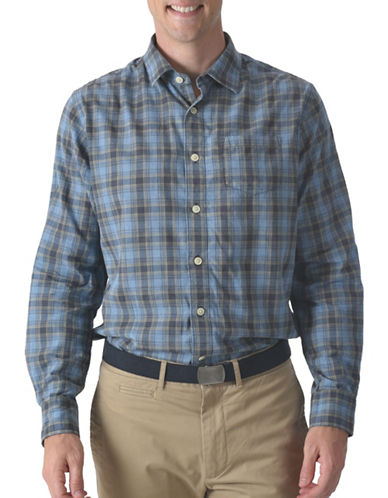 Grayers Stetson Poplin Shirt-BLUE-Small