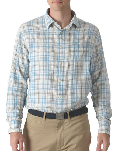 Grayers Bridge Summer Twill Shirt-BLUE-Small