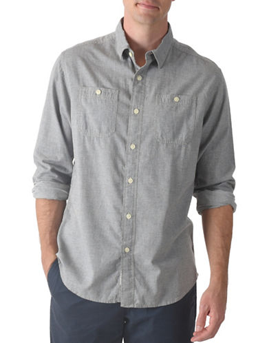 Grayers Dobby Cotton Shirt-GREY-Small