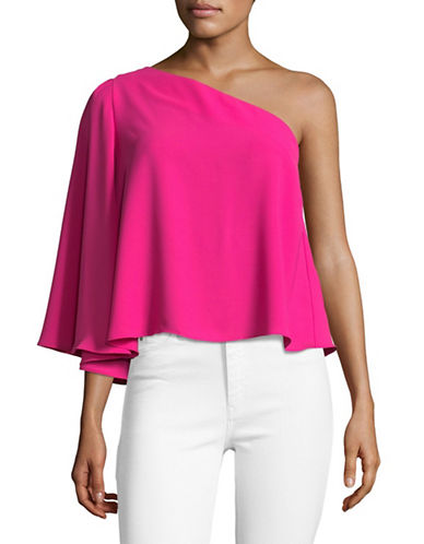 Design Lab Lord & Taylor One Shoulder Top-PINK-Small