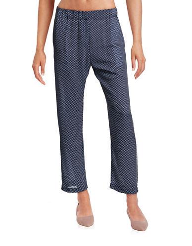 Clover Canyon Polka Dot Soft Pants-NAVY-Small