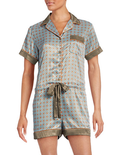 Clover Canyon Spot and Clover Pajama Romper-BLUE-X-Small