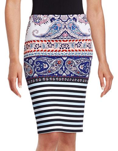 Clover Canyon Print Neoprene Skirt-MULTI-Medium