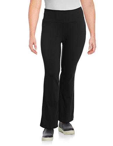 Style And Co. Plus Boot Leg Yoga Pants-BLACK-3X 88568357_BLACK_3X
